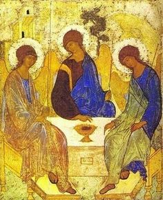 The Holy Trinity, icon by Andrei Rublev (The dance of the Trinity: perichoresis)