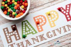 She's {kinda} Crafty: Thanksgiving Kids' Table Activity