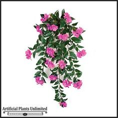 "30"" Outdoor Artificial Impatiens Vine, great for window boxes and hanging baskets"