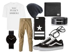 """""""Jim"""" by iluvpie1233 on Polyvore featuring Vetements, Dsquared2, Vans, Uniform Wares, Givenchy, Diesel, Dolce&Gabbana, men's fashion and menswear"""