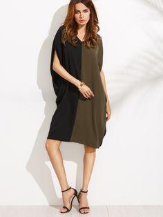 Shop V Neck Color Block Shift Dress online. SheIn offers V Neck Color Block Shift Dress & more to fit your fashionable needs.