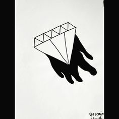 #diamond #black #and #white