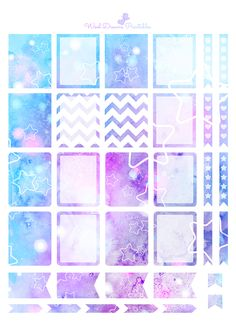 Beautiful and dreamy watercolor decorative and functional digital stickers for your planner! 8 different pages full of functional stickers!