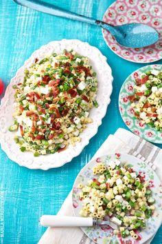 Spring Pasta Salad with Asparagus, Bacon & Feta | Family Fresh Cooking