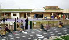 The Krishna-Avanti Primary School designed by Cottrell & Vermeulen Architecture. Features environmentally friendly design, and plenty of play spaces.