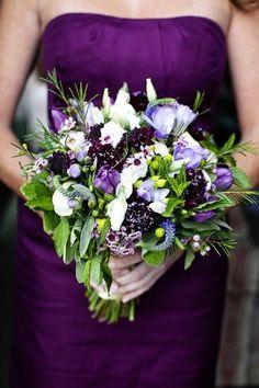 Gorgeous purple hued bouquet by the fabulous Hana Floral Design! Purple Wedding Bouquets, Flower Bouquet Wedding, Green Wedding, Our Wedding, Wedding Ideas, Wedding Colours, Bridesmaid Bouquet, Wedding 2015, Bridal Bouquets