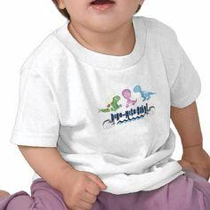 Dino Babies Shirt #zazzle #tshirt #design #baby #babies #dinos #dinosaurs #triceratops #trex #tyrannosaurus #stegosaurus #rex
