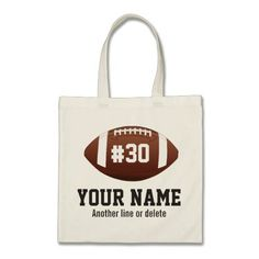 1a5451a6599 Personalized football Custom Name Number Tote Bag #tote #bags Personalized  Football, Sports Gifts