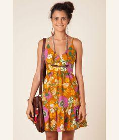 vestido alcinha floral poli