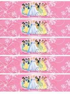 Disney Princess Water bottle labels by nradesigns on Etsy, $5.00