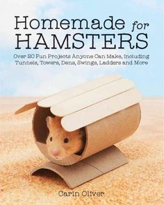 Homemade for Hamsters: Over 20 Fun Projects Anyone Can Make Including Tunnels Towers Dens Swings Ladders and. Dwarf Hamster Toys, Diy Hamster Toys, Hamster Habitat, Hamster Life, Hamster Cages, Hamster Treats, Guinea Pig Toys, Guinea Pigs, Chinchilla