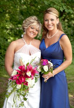Bride and Bridesmaid! :)