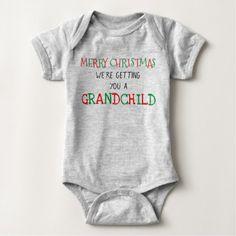 Grandchild for Christmas Baby Bodysuit - merry christmas diy xmas present gift idea family holidays