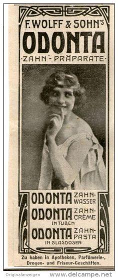 Original-Werbung/Inserat/ Anzeige 1909 - ODONTA ZAHNCRÈME/ZAHNPASTA - ca. 45 X 120 mm