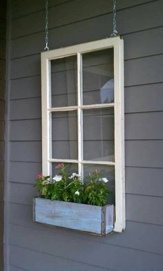 We have various style wood windows. If you need a specific style or size just ask In this listing you will receive a 6 pane wood window or a window with flower box Comes ready to hang but chains do not come with Most windows measure approx 34x27 Wood window flower box - window