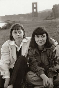 """Carson McCullers and her younger sister, Rita Smith, Nyack, NY by Henri Cartier-Bresson , 1947. Smith was a short story writer, the fiction editor at """"Mademoiselle"""" and later """"Red Book,"""" as well as a lectureer at Columbia. As an editor's assistant at """"Mademoiselle, she helped launch Truman Capote's career when she convinced the editor to publish one of the 21-year-old's stories."""