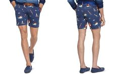 Polo Ralph Lauren Traveler Sailboat-Print Swim Short