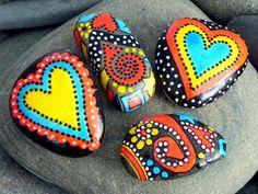 Midnight Merriment / Stone Magnets / Sandi Pike Foundas / Cape Cod via Etsy