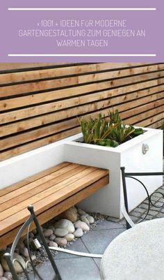 Ideas for contemporary garden seating patio design Small Patio Design, Modern Garden Design, Fence Design, Contemporary Garden, Balcony Design, Design Jardin, Patio Seating, Garden Seating, Seating Areas
