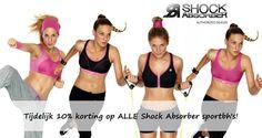 De   #Shock   #Absorber   #Actie  bij #Underfashion:  10% korting op alle sportbeha's van Shock Absorber. Het buitensport seizoen gaat weer starten: begin meteen goed met een nieuwe stevige sportbeha van Shock Absorber. Cup A t/m H. Ook de Limited Color pink is met korting, op=op. De aanbieding geldt t/m 6 april 2015.  Bestel je Shock Absorber bij:  www.underfashion.nl/sportbehas-shock-absorber