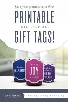 Head over to the blog to download customizable essential oil themed gift tags.
