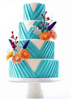 Editor's Pick: Wedding Cakes with Creative New Designs. To see more: http://www.modwedding.com/2014/09/07/editors-pick-wedding-cakes-creative-new-designs/ #wedding #weddings #wedding_cake Featured Wedding Cake: Le Dolci Cupcakes and Cakes