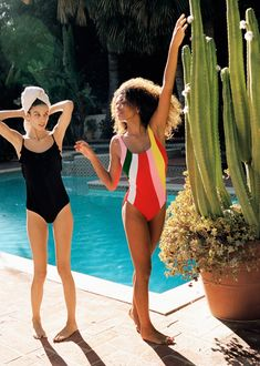 (Left) & Other Stories Frill Swimsuit (Right) & Other Stories Color Pop Swimsuit