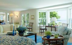 Living room coastal style