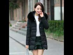 2016 winter jacket slim women coat hooded women down cotton coat faux fur collar warm outerwear