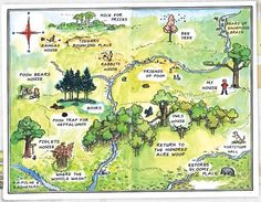 100 acre woods map