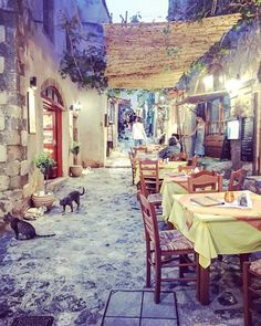 Traditional Streets of the world photography Greek taverna photography street wall art vintage urban wall decor Fine art Giclee or canvas