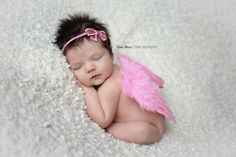 Bubblegum Pink Feather Angel Wings Newborn Baby Photo Prop | Beautiful Photo Props