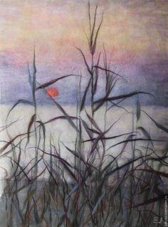 Создаем картину из шерсти «Закат на Крите» - Ярмарка Мастеров - ручная работа, handmade