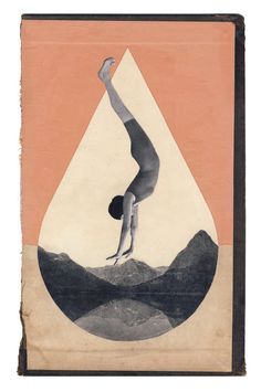 Hollie Chastain — Crater Lake, collage on book cover. Collage Foto, Art Du Collage, Digital Collage, Art Pop, Inspiration Art, Art Inspo, Art And Illustration, Decoration Tumblr, Vintage Collage