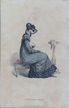 Fashion Plate, Carriage Dress - Ackermann's Repository, 1820