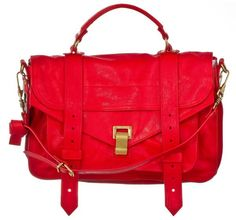Proenza Schouler's PS1 bright red medium leather handbag--I need this in my life because of reasons.