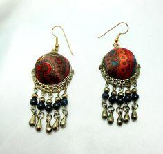 Ethnic Earrings by Ladysfancys on Etsy, $22.00