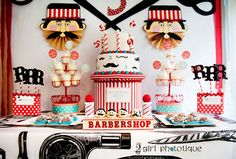 Barber shop birthday-boy-themes.  So cute!