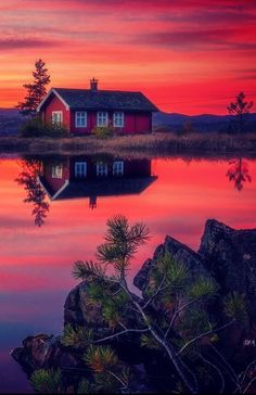 Sunset at the cabin by Daniel Herr (Norway)