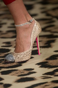 ankle strap stilettos from the #JustCavalli FW 2012-13 Show roberto cavalli