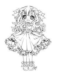 Image Result For No Color Anime Drawings Chibi Coloring Pages Coloring Pages Cool Coloring Pages