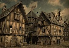 Building the medieval city Page 10 Fantasy city Medieval fantasy Medieval town