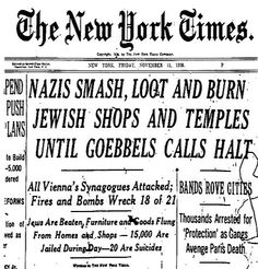 Damaged Storefront after Kristallnacht Riot also known as the Night of Broken Glass Berlin, Nov The Lost World, World War Two, Cold Light Of Day, Wordpress, Newspaper Headlines, Military Units, Jewish History, Headline News, Europe