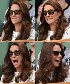 See Kate Middleton and Prince William's Delightful Displays of Emotion at Wimbledon | Vanity Fair ... PS her hair is fab, as usual!