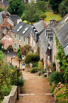 The steep streets of the village lead to one of the oldest ports of the pink granite coast ~ Lannion, France