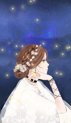 Girl Cartoon, Cartoon Art, Walpapper Tumblr, Tmblr Girl, Lovely Girl Image, Korean Art, Beautiful Anime Girl, Girl Wallpaper, Anime Art Girl