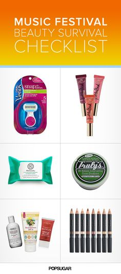 Headed to a music festival? These are the beauty products you absolutely need to pack.