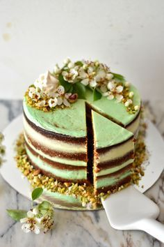 Pistachio Cake with Buttercream and Lima Vanilla