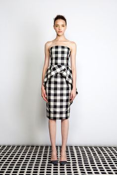 Celebrities who wear, use, or own Lela Rose Resort 2014 Checked Dress. Also discover the movies, TV shows, and events associated with Lela Rose Resort 2014 Checked Dress. Love Fashion, Runway Fashion, Fashion Models, Spring Fashion, High Fashion, Fashion Show, Fashion Design, Lela Rose, Gingham Dress