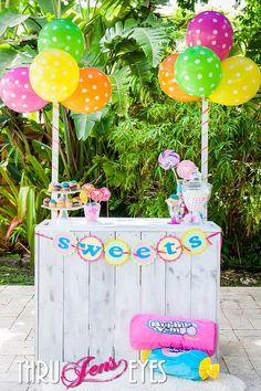 Sweets Banner - Sweet Shoppe - Chevron Banner - Happy birthday banner - Canyland Birthday  - First Birthday via Etsy